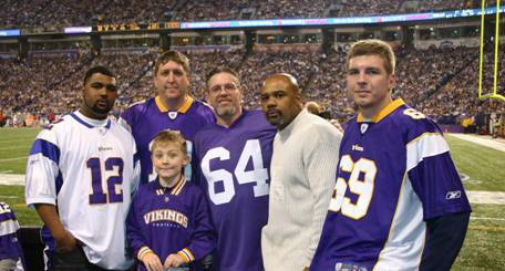 Volunteers for the Vikings Designated Driver Booth L to R-  Charles Jr., Rodney, Rodney Jr., Joe, Charles and Bradley