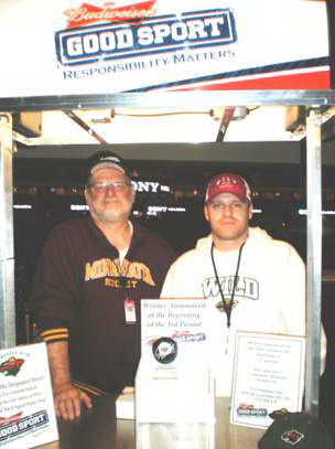 Volunteers at the Wild Hockey Games Designated Driver Booth Jim and Alex